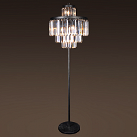 Торшер RH 1920S Odeon Clear Glass Floor Lamp 4 rings Loft Concept 41.055