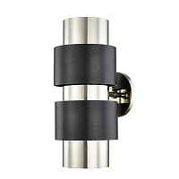 Бра Hudson Valley 9420-PNOB Cyrus 2 Light Wall Sconce In Polished Nickel/Old Bronze Combo Loft Concept 44.656