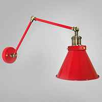 Бра Gloce Cone Shade Loft Industrial Red Loft Concept 44.089