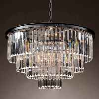 Подвесной светильник RH 1920s Odeon Clear Glass Fringe Chandelier -60 Loft Concept 40.308