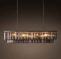 Подвесной светильник RH 1920s Odeon Smoke Glass Fringe Grey iron 125 Loft Concept 40.310
