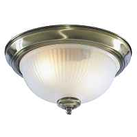 Потолочный светильник Flush Mount Ceiling Light antic milky glass Loft Concept 48.022