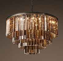 Подвесной светильник RH 1920s Odeon Smoke Glass Fringe Chandelier -60 Loft Concept 40.305