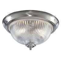 Потолочный светильник Flush Mount Ceiling Light silver corrugated glass Loft Concept 48.023