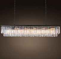 Подвесной светильник RH 1920s Odeon Clear Glass Fringe Grey iron 150 Loft Concept 40.294-0