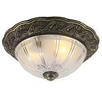 Потолочный светильник Flush Mount Ceiling Light bronze corrugated glass Loft Concept 48.024