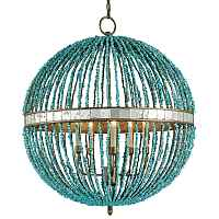 Люстра CURREY AND COMPANY BEADED ORB CHANDELIER — TURQUOISE BLUE Loft Concept 40.1850