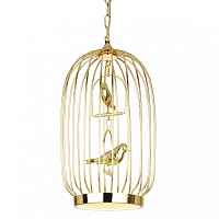 Люстра Birdcage Chandelier Two Gold Loft Concept 40.1274