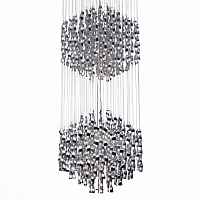 Люстра Macaroni Chandelier Chrome double Loft Concept 40.1805