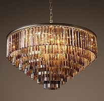 Подвесной светильник RH 1920s Odeon Smoke Glass Fringe Chandelier -80, 100 Loft Concept 40.297