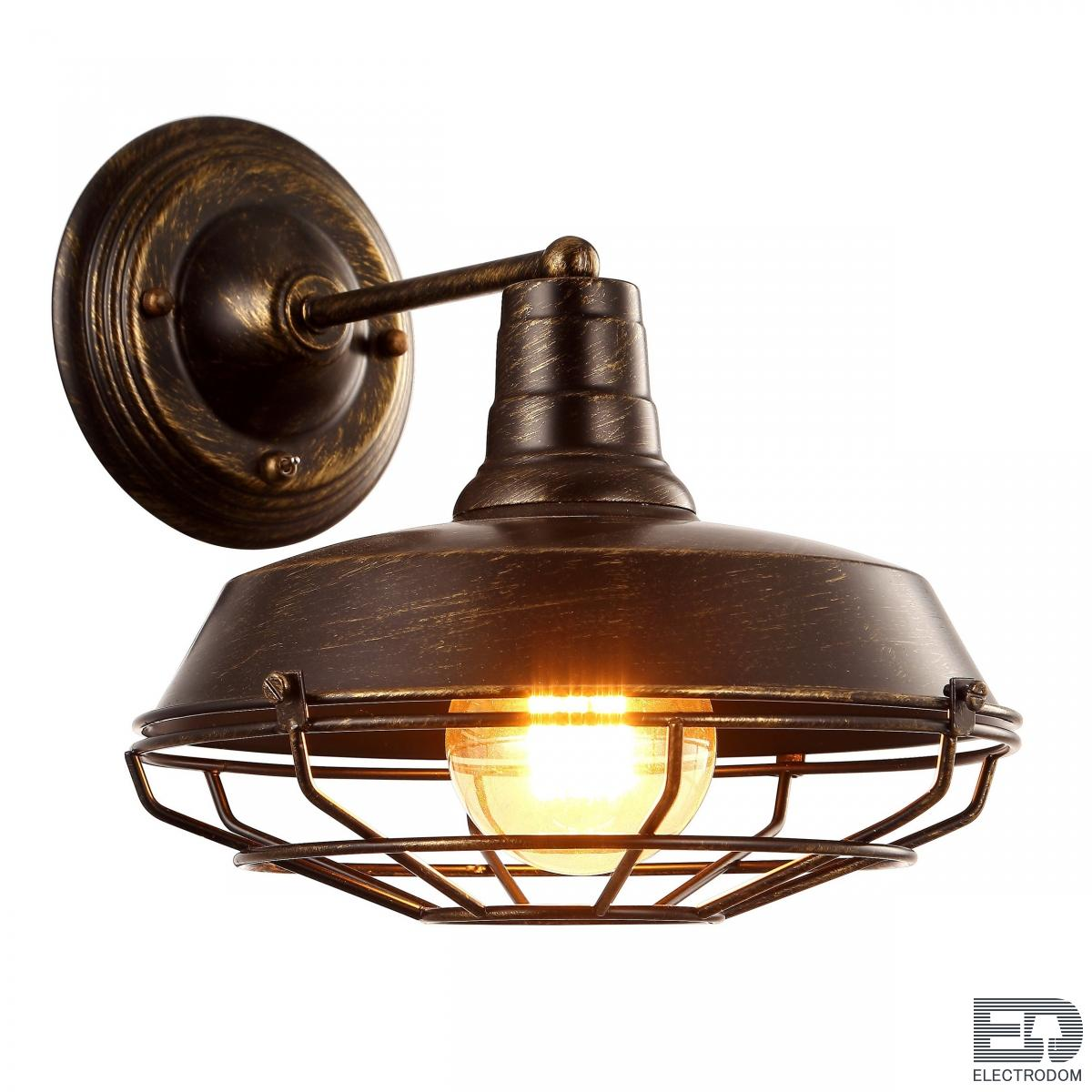 Бра Wall lamp DARK CAGE Brown vintage Loft Concept 44.428 - цена и фото