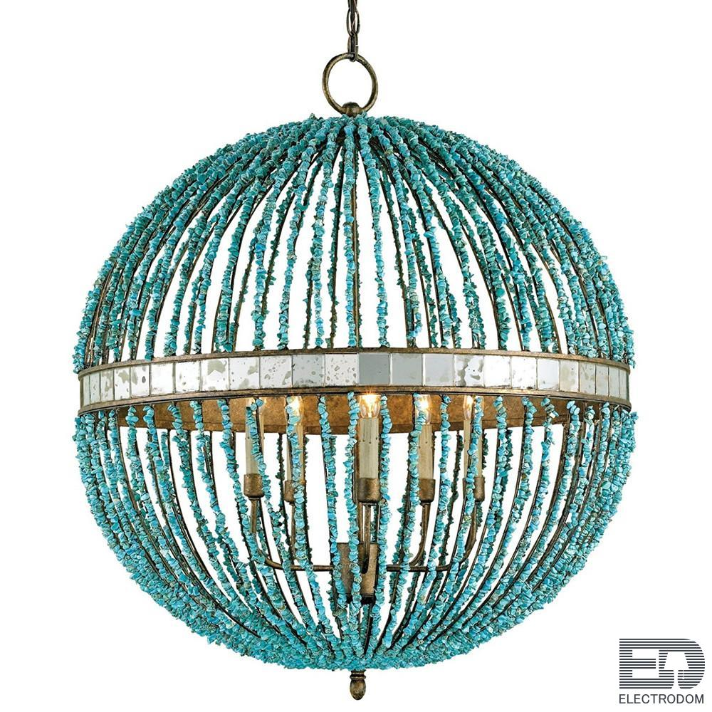 Люстра CURREY AND COMPANY BEADED ORB CHANDELIER — TURQUOISE BLUE Loft Concept 40.1850 - цена и фото