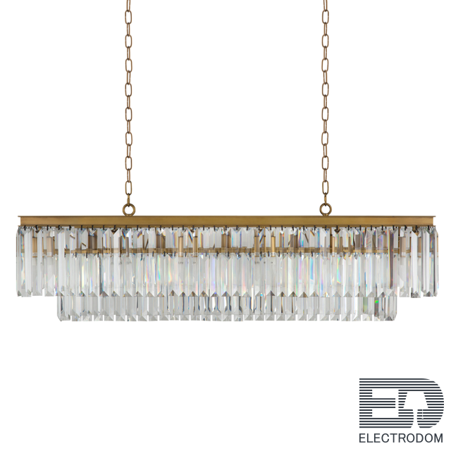 Люстра RH 1920s Odeon Clear Gold Square Chandelier Loft Concept 40.2099 - цена и фото