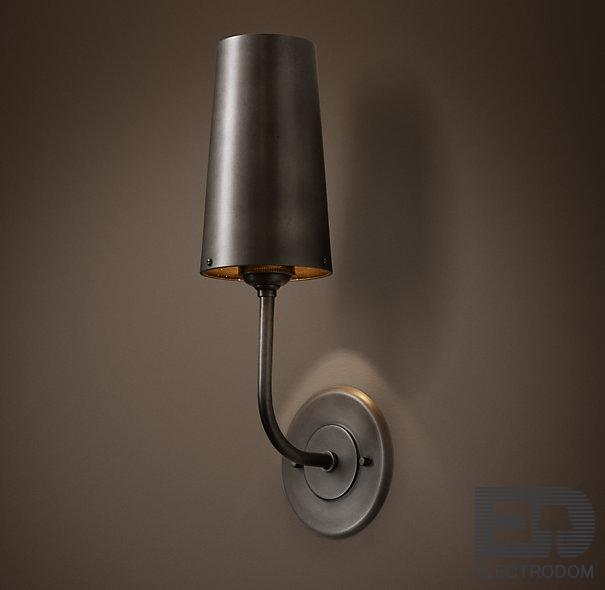 Бра RH Modern Taper Sconce with Metal Shade Loft Concept 44.080 - цена и фото